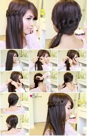 braided hairstyle instructions step by step diy knotted loop waterfall braid step by step tutorial usefuldiy com