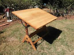Antique Drafting Tables with Hamilton Mfg Co Oak Drafting Table Antique Vintage Antique