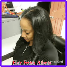 black hair weave part in the middle jet black middle part sew in hair fetish atlanta salon