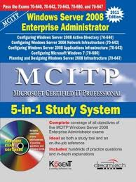 mcitp 5 in 1 study system windows server 2008 enterprise