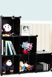 songmics 3 tier diy storage cube organizer plastic closet shelf 6