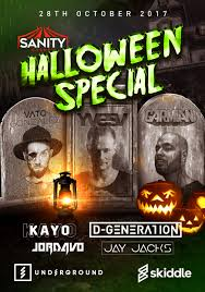 sanity events halloween special tickets underground liverpool