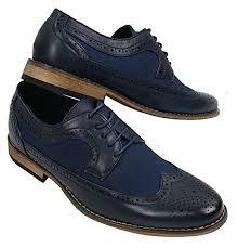 italienisches design herrenschuhe blau braun schwarz brogues lederfutter italienisches