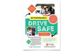 drive brochure template driving school flyer template design