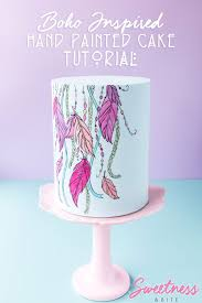design a cake painted cake tutorial step by step on how to