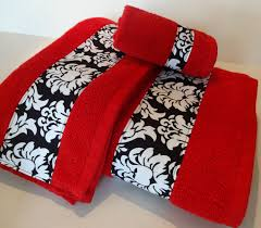 Red And Gray Bathroom Sets Decorative Bathroom Towels 347470140cm Decorative Cheap Quality