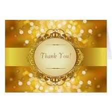 golden bokeh 50th anniversary thank you card zazzle