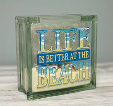ben franklin crafts and frame shop diy glass block beach decor