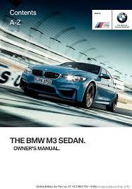 bmw m3 2016 f80 owner u0027s manual