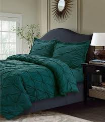 dark green pinch pleated duvet cover queen set chic pinched pleat