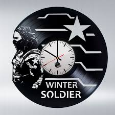 winter soldier captain america civil war vinyl record vintage wall