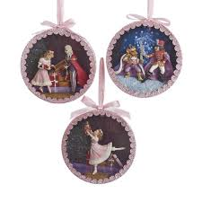 nutcracker suite shadow box ornaments 3 assorted kurt s adler