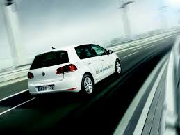volkswagen golf blue volkswagen golf blue e motion electric car review pursuitist