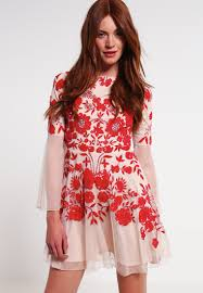 frock and frill embellished shift dress women dresses frock and