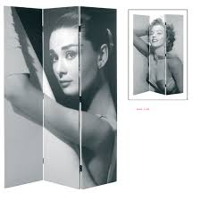 Canvas Room Divider Marilyn Monroe Canvas Room Divider In Black And White Room