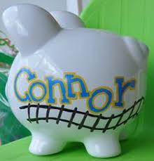 Customized Piggy Bank Customized Piggy Bank Painted Piggy Bank Por Mollieburd En Etsy
