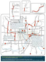 Minneapolis Zip Code Map by Highway 100 North I 35w Closures Top Weekend Road Woes