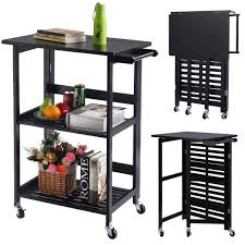 Kitchen Utility Table by Amazon Com Giantex Foldable Wood Kitchen Cart Utility Serving