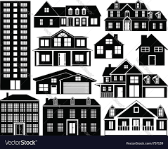 house silhouettes set royalty free vector image