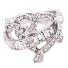 natural gemstones rings images Silver natural gemstones ring white sapphire heart jewelry jpg