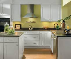 Small Kitchen Makeovers On A Budget - alpine white shaker style kitchen cabinets homecrest