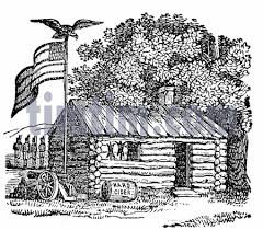 log cabin drawings free drawing of log cabin bw2 from the category history timtim com