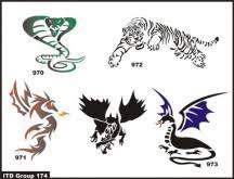 king cobra archives airbrush tattoos island tribal designs