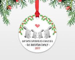 fox new parents ornaments family ornament