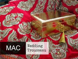 mac wedding make up trousseau