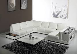 sofa u white leather u shaped sectional sofa with storage modern