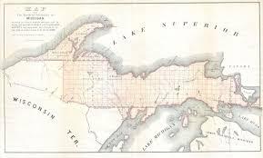 up michigan map file 1849 land survey map of michigan peninsula