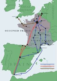 Map Of Northern France by Maps Of Major Escape Routes Through France Wwii Netherlands