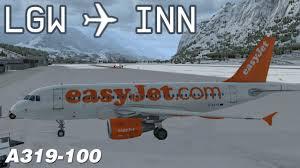 p3d london gatwick to innsbruck ezy5391 easyjet aerosoft