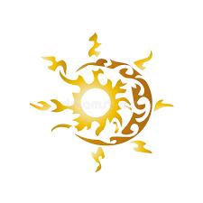 artistic sun and moon stock vector illustration of season 42294495