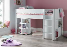 Montana Mid Sleeper With Desk And  Door Quad Unit Bunk Beds - Mid sleeper bunk bed