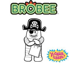 toodee coloring sheet freeprintable yogabbagabba toodee