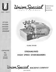 union special sewing machine manual instruction and repair manuals