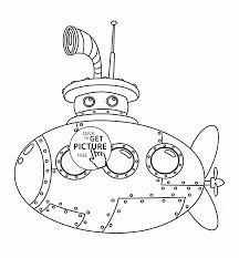 cute submarine coloring page for kids transportation coloring