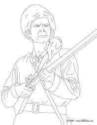 davy crockett coloring pages within crockett coloring page eson me