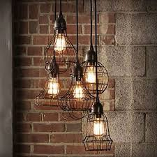 edison vintage pendant light chandelier rustic wire cage ceiling hanging light house decorating ideas hanging lights pendant lighting and