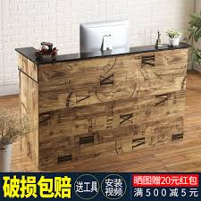 Simple Reception Desk Usd 112 16 Vintage Corner Bar A Clothing Store Cashier And Hotel