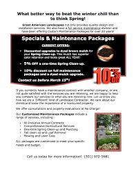 Landscape Maintenance Contract by Spring Landscaping Maintenance Great American Landscapes