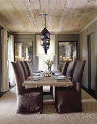 Kitchen Ceilings Designs Chic Rustic Dining Room With Vaulted Ceiling Accented With Wood