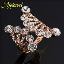 big rings designs images Fg big 18k rose gold plated multi color stone crystal gold rings jpg