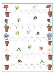 spring themed worksheet for kids preschool and kindergarten