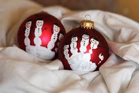 handprint christmas ornament diy