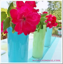 Glass Vase Painting Painted Glass Vases Sand And Sisal