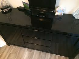 used next black gloss sideboard in tn14 halstead for 75 00 u2013 shpock
