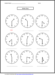 telling time worksheets kindergarten worksheets