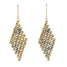 gold dangle earrings faceted diamond dangle earrings jenne rayburn